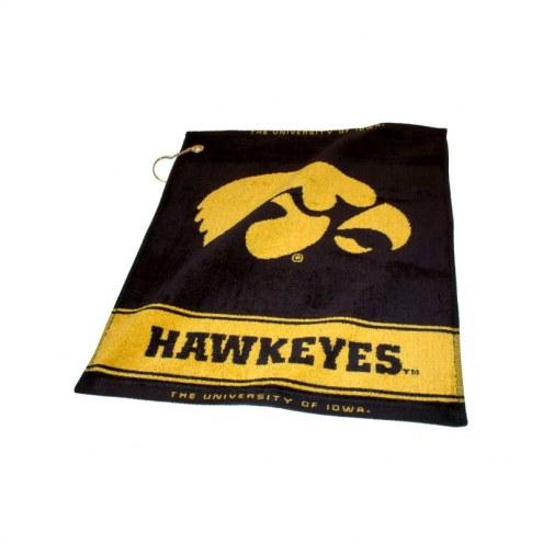 Iowa Hawkeyes Woven Golf Towel