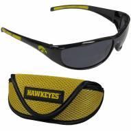 Iowa Hawkeyes Wrap Sunglasses and Case Set
