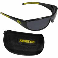 Iowa Hawkeyes Wrap Sunglasses and Case Set