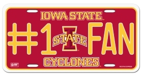 Iowa State Cyclones #1 Fan License Plate