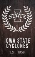 "Iowa State Cyclones 11"" x 19"" Laurel Wreath Sign"