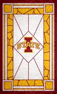 """Iowa State Cyclones 11"""" x 19"""" Stained Glass Sign"""