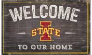 """Iowa State Cyclones 11"""" x 19"""" Welcome to Our Home Sign"""