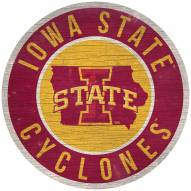 """Iowa State Cyclones 12"""" Circle with State Sign"""