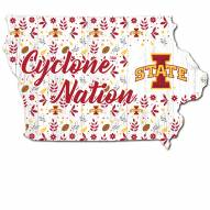 """Iowa State Cyclones 12"""" Floral State Sign"""