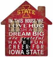 """Iowa State Cyclones 12"""" House Sign"""