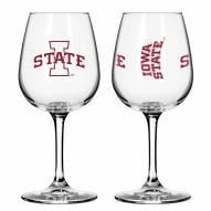 Iowa State Cyclones 12 oz. Gameday Stemmed Wine Glass