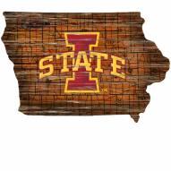 "Iowa State Cyclones 12"" Roadmap State Sign"