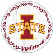 """Iowa State Cyclones 12"""" Welcome Circle Sign"""