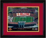 Iowa State Cyclones 13 x 16 Personalized Framed Stadium Print