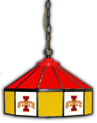 "Iowa State Cyclones 14"" Glass Pub Lamp"