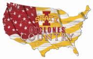 "Iowa State Cyclones 15"" USA Flag Cutout Sign"