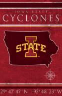 "Iowa State Cyclones 17"" x 26"" Coordinates Sign"