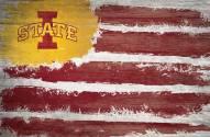 "Iowa State Cyclones 17"" x 26"" Flag Sign"