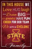 """Iowa State Cyclones 17"""" x 26"""" In This House Sign"""