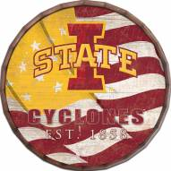 "Iowa State Cyclones 24"" Flag Barrel Top"