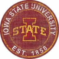 """Iowa State Cyclones 24"""" Heritage Logo Round Sign"""