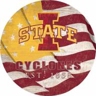 """Iowa State Cyclones 24"""" Team Color Flag Circle Sign"""