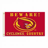 Iowa State Cyclones 3' x 5' Beware Flag