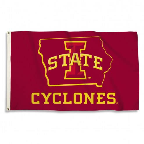 Iowa State Cyclones 3' x 5' State Outline Flag