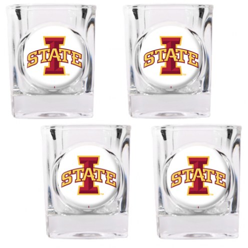 Iowa State Cyclones 4 Piece Square Shot Glasses