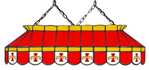 "Iowa State Cyclones 40"" Stained Glass Pool Table Light"