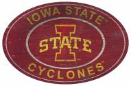 """Iowa State Cyclones 46"""" Heritage Logo Oval Sign"""