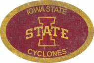 """Iowa State Cyclones 46"""" Team Color Oval Sign"""