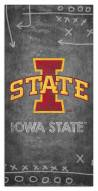 "Iowa State Cyclones 6"" x 12"" Chalk Playbook Sign"
