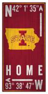 "Iowa State Cyclones 6"" x 12"" Coordinates Sign"