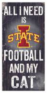"Iowa State Cyclones 6"" x 12"" Football & My Cat Sign"