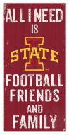 """Iowa State Cyclones 6"""" x 12"""" Friends & Family Sign"""