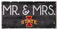 """Iowa State Cyclones 6"""" x 12"""" Mr. & Mrs. Sign"""
