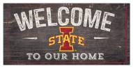 """Iowa State Cyclones 6"""" x 12"""" Welcome Sign"""