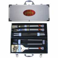 Iowa State Cyclones 8 Piece Stainless Steel BBQ Set w/Metal Case