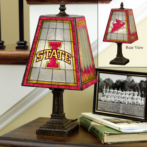 Iowa State Cyclones Art Glass Table Lamp