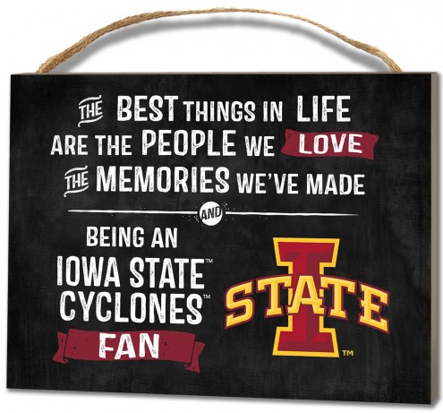 Iowa State Cyclones Best Things Small Plaque