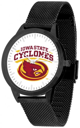 Iowa State Cyclones Black Mesh Statement Watch