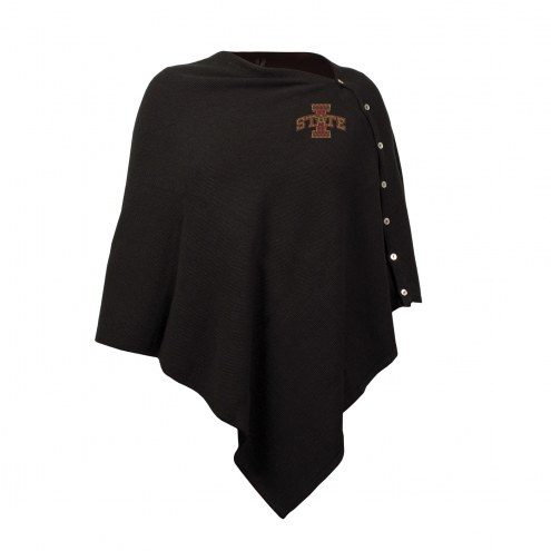 Iowa State Cyclones Black Out Button Poncho