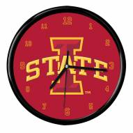 Iowa State Cyclones Black Rim Clock