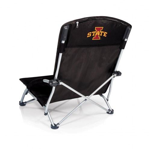 Iowa State Cyclones Black Tranquility Beach Chair