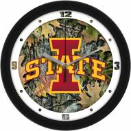 Iowa State Cyclones Camo Wall Clock