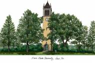 Iowa State Cyclones Campus Images Lithograph