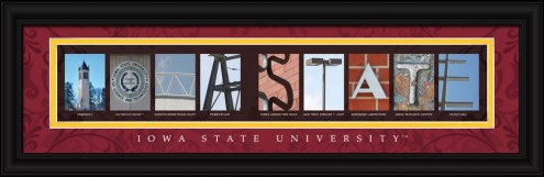 Iowa State Cyclones Campus Letter Art