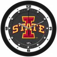 Iowa State Cyclones Carbon Fiber Wall Clock
