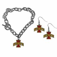 Iowa State Cyclones Chain Bracelet & Dangle Earring Set