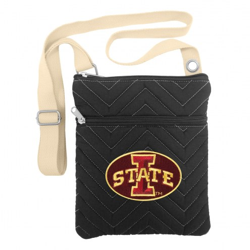 Iowa State Cyclones Chevron Stitch Crossbody Bag