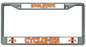 Iowa State Cyclones Chrome License Plate Frame