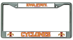 Iowa State Cyclones Chrome License Plate Frame