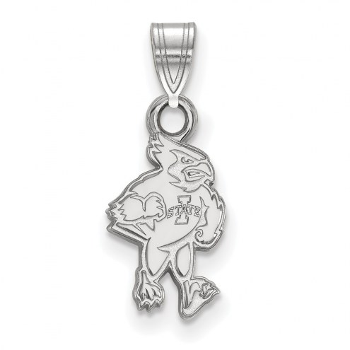 Iowa State Cyclones Sterling Silver Small Pendant